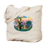 St. Fran #2/ German Shepherd (w) Tote Bag