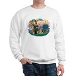 St. Fran #2/ German Shepherd (w) Sweatshirt