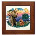 St Francis #2/ Chow (R) Framed Tile