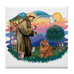 St Francis #2/ Chow (R) Tile Coaster