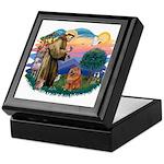 St Francis #2/ Chow (R) Keepsake Box