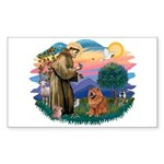 St Francis #2/ Chow (R) Sticker (Rectangle)