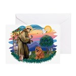 St Francis #2/ Chow (R) Greeting Card