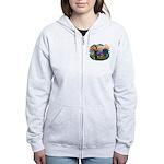 St Francis #2/ Chow (R) Women's Zip Hoodie