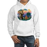 St Francis #2/ Chow (R) Hooded Sweatshirt