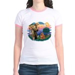 St Francis #2/ Chow (R) Jr. Ringer T-Shirt