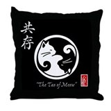Tao of Meow: Yin Yang Cats Throw Pillow