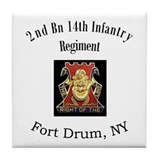2nd 14th Inf Reg Tile Coaster
