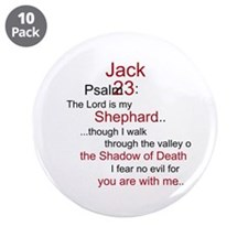 "Jack Shephard-Psalm 23/ 3.5"" Button (10 pack)"
