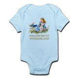 Alice in wonderland baby clothes Bodysuits