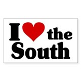 I Heart the South Decal