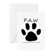PAW logo Greeting Cards