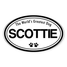 World's Greatest Scottie Oval Decal