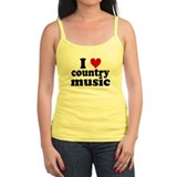 I Heart Country Music Jr.Spaghetti Strap
