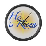 He is Risen Large Wall Clock