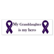 Granddaughter CF Hero Bumper Sticker