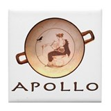Greek God Apollo Tile Coaster