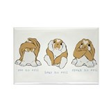See No Hear No Speak No Evil Rectangle Magnet (10