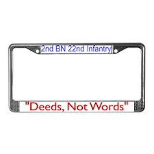 2nd Bn 22nd Inf Reg License Plate Frame