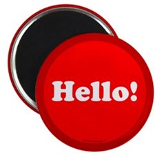 "Hello! 2.25"" Magnet (100 pack)"