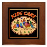 Kids Care Framed Tile