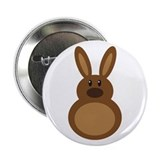 "Chocolate Easter Bunny 2.25"" Button"