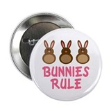 "Easter Bunnies Rule 2.25"" Button"