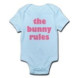 Funny Bunny Rules  Baby Onesie