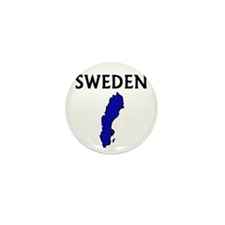 Funny Sweden flag Mini Button (10 pack)