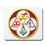 Masonic York Rite Circle Mousepad