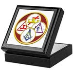 Masonic York Rite Circle Keepsake Box