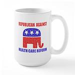 Republican Against Health Car Large Mug