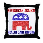 Republican Against Health Car Throw Pillow