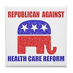 Republican Against Health Car Tile Coaster