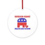 Republican Against Health Car Ornament (Round)