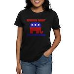 Republican Against Health Car Women's Dark T-Shirt