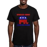 Republican Against Health Car Men's Fitted T-Shirt