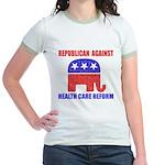 Republican Against Health Car Jr. Ringer T-Shirt