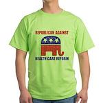 Republican Against Health Car Green T-Shirt