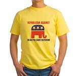 Republican Against Health Car Yellow T-Shirt