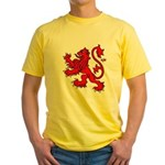 Scottish Rampant Lion Yellow T-Shirt