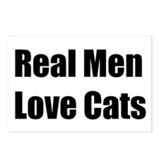 Real Men Love Cats Postcards
