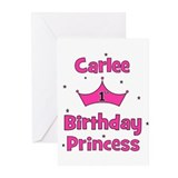 1st Birthday Princess Carlee! Greeting Cards (Pk o