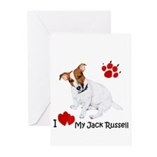 Love My Jack Russell Terrier Greeting Cards (Pk of