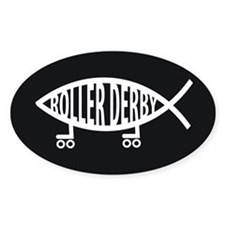 Roller Derby Religion Decal