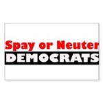 Spay or Neuter Democrats Sticker (Rectangle)