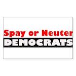 Spay or Neuter Democrats Sticker (Rectangle 10 pk)