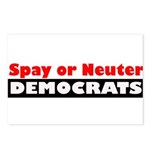 Spay or Neuter Democrats Postcards (Package of 8)