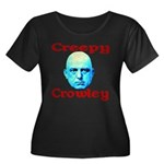 Creepy Crowley Women's Plus Size Scoop Neck Dark T