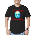 Creepy Crowley Men's Fitted T-Shirt (dark)